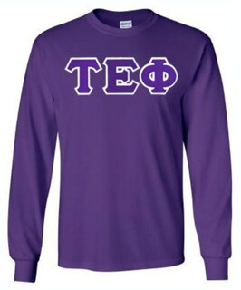 DISCOUNT Tau Epsilon Phi Lettered Long sleeve