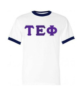 DISCOUNT- Tau Epsilon Phi Lettered Ringer Shirt