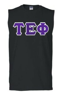 DISCOUNT- Tau Epsilon Phi Lettered Sleeveless Tee