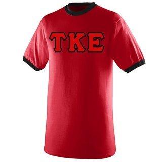 DISCOUNT- Tau Kappa Epsilon Lettered Ringer Shirts