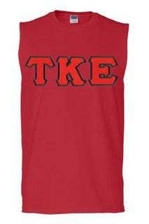 DISCOUNT- Tau Kappa Epsilon Lettered Sleeveless Tees