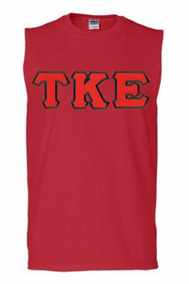 DISCOUNT- Tau Kappa Epsilon Lettered Sleeveless Tees