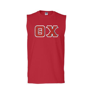 DISCOUNT- Theta Chi Lettered Sleeveless Tee