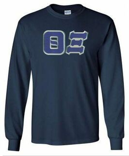 DISCOUNT Theta Xi Lettered Long Sleeve Tee