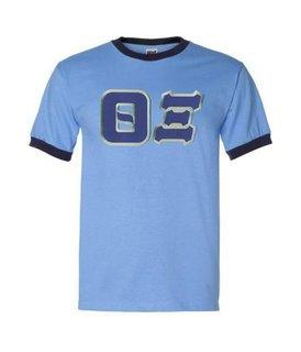 $19.99 Theta Xi Lettered Ringer Shirt