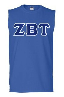 DISCOUNT- Zeta Beta Tau Lettered Sleeveless Tee