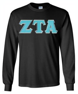 DISCOUNT Zeta Tau Alpha Lettered Long Sleeve Tee