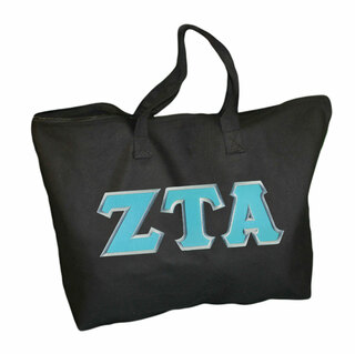 $19.99 Zeta Tau Alpha Lettered Tote Bag