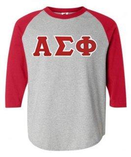 DISCOUNT- Alpha Sigma Phi Lettered Raglan T-Shirt