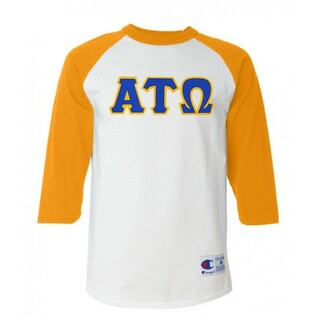 DISCOUNT- Alpha Tau Omega Lettered Raglan T-Shirt