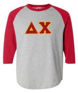 DISCOUNT- Delta Chi Lettered Raglan T-Shirt