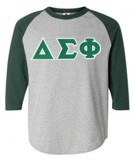 DISCOUNT- Delta Sigma Phi Lettered Raglan T-Shirt