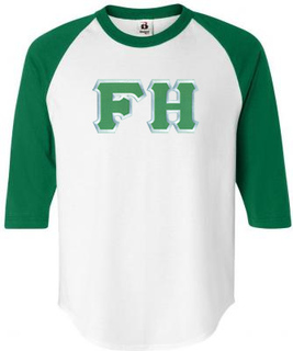 $22.95 FarmHouse Fraternity Lettered Raglan Shirt