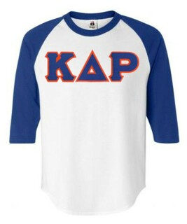 DISCOUNT- Kappa Delta Rho Lettered Raglan T-Shirt