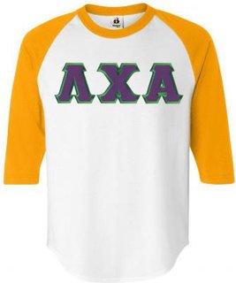DISCOUNT- Lambda Chi Alpha Lettered Raglan T-Shirt