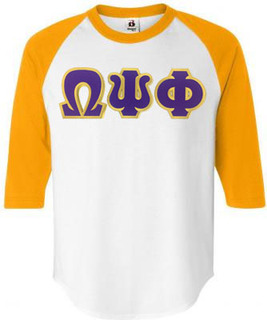 DISCOUNT- Omega Psi Phi Lettered Raglan T-Shirt