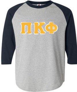 DISCOUNT- Pi Kappa Phi Lettered Raglan T-Shirt