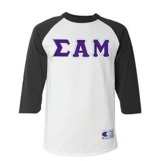 DISCOUNT- Sigma Alpha Mu Lettered Raglan T-Shirt