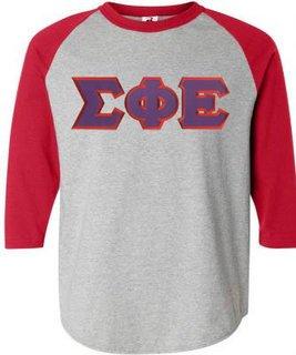 DISCOUNT- Sigma Phi Epsilon Lettered Raglan T-Shirt