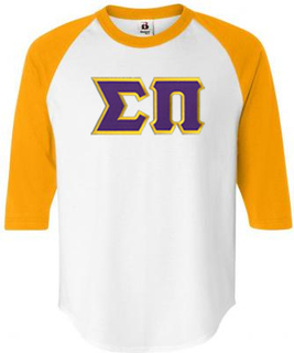 DISCOUNT- Sigma Pi Lettered Raglan T-Shirt