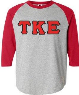 DISCOUNT- Tau Kappa Epsilon Lettered Raglan T-Shirts