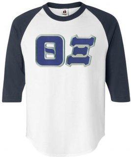 $22.95 Theta Xi Lettered Raglan Shirt