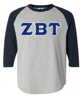 DISCOUNT- Zeta Beta Tau Lettered Raglan T-Shirt