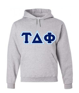 3 Color Twill Tau Delta Phi Custom Twill Hooded Sweatshirt