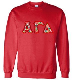 $25.00 Alpha Gamma Delta Custom Twill Sweatshirt