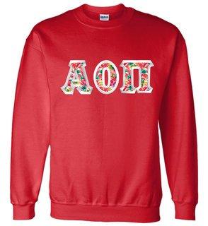$25 Alpha Omicron Pi Custom Twill Sweatshirt