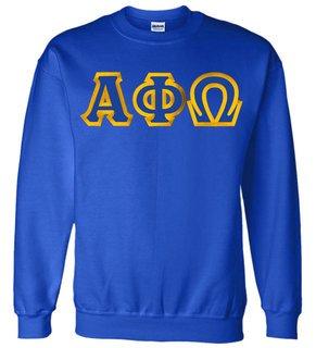 Alpha Phi Omega Custom Twill Crewneck Sweatshirt