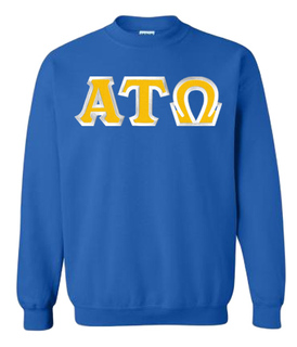 $29.99 Alpha Tau Omega Custom Twill Crewneck Sweatshirt