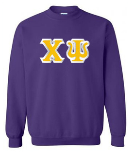 Chi Psi Custom Twill Crewneck Sweatshirt