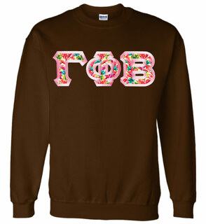 $29.99 Custom Satin Stitch Lettered Crewneck Sweatshirt