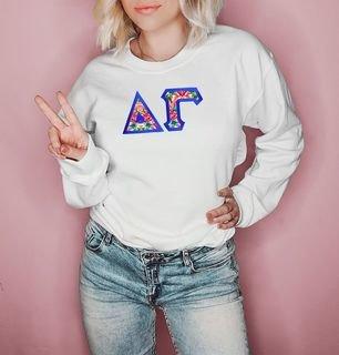 $25 Delta Gamma Custom Twill Sweatshirt