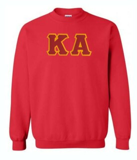 DISCOUNT Kappa Alpha Lettered Crewneck