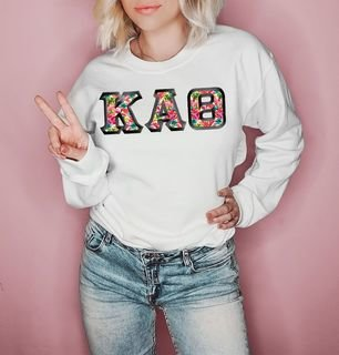 $25 Kappa Alpha Theta Custom Twill Sweatshirt