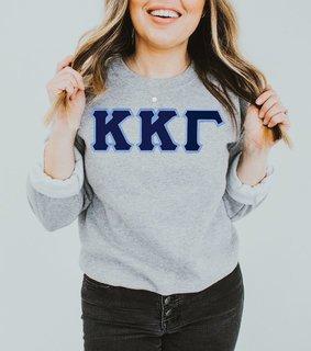 DISCOUNT Kappa Kappa Gamma Lettered Crewneck
