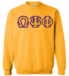 $25 Omega Psi Phi Custom Twill Crewneck Sweatshirt