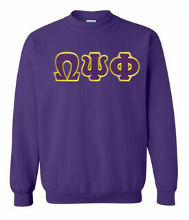 DISCOUNT Omega Psi Phi Lettered Crewneck