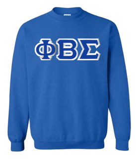 Phi Beta Sigma Custom Twill Crewneck Sweatshirt