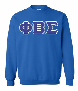 DISCOUNT Phi Beta Sigma Lettered Crewneck