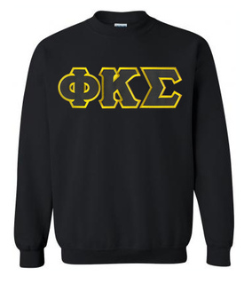 DISCOUNT Phi Kappa Sigma Lettered Crewneck