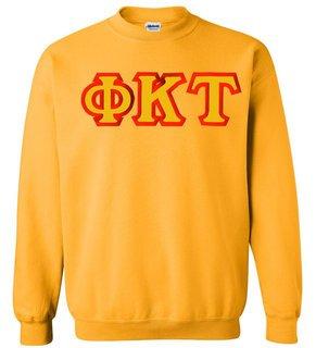 $25 Phi Kappa Tau Custom Twill Crewneck Sweatshirt
