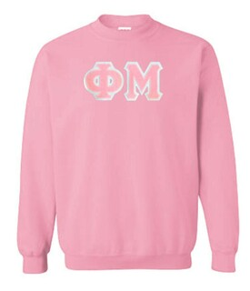 DISCOUNT Phi Mu Lettered Crewneck