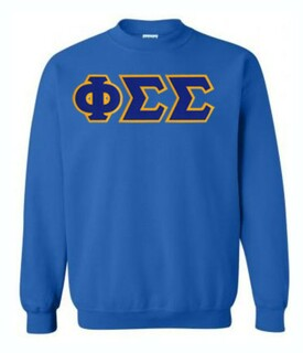 DISCOUNT Phi Sigma Sigma Lettered Crewneck