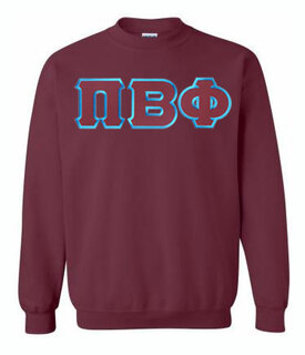 DISCOUNT Pi Beta Phi Lettered Crewneck