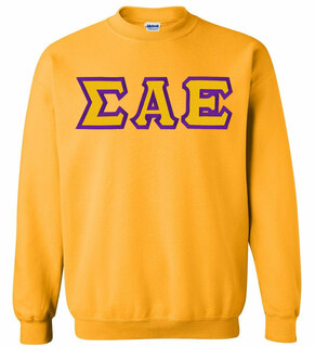 Sigma Alpha Epsilon Custom Twill Crewneck Sweatshirt