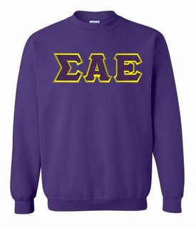 DISCOUNT Sigma Alpha Epsilon Lettered Crewneck