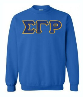 DISCOUNT Sigma Gamma Rho Lettered Crewneck